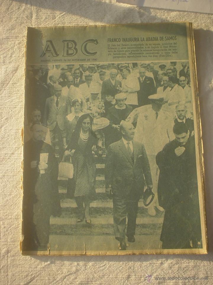 PERIODICO ABC 16 SEPTIEMBRE 1960 (Coleccionismo - Revistas y Periódicos Modernos (a partir de 1.940) - Los Domingos de ABC)