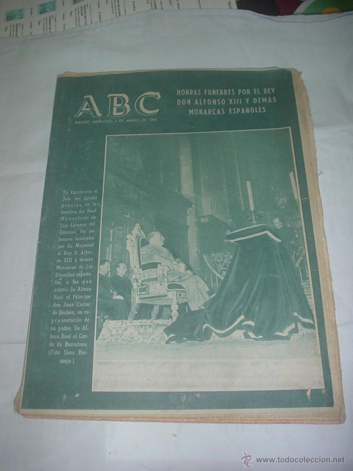 PERIODICO ABC 1 MARZO 1961 (Coleccionismo - Revistas y Periódicos Modernos (a partir de 1.940) - Los Domingos de ABC)