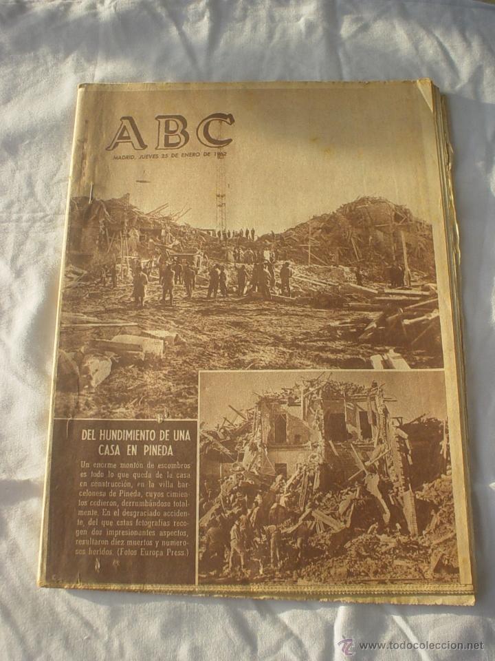 PERIODICO ABC 25 ENERO 1962 - CARTELERA *LO QUE EL VIENTO SE LLEVO* (Coleccionismo - Revistas y Periódicos Modernos (a partir de 1.940) - Los Domingos de ABC)