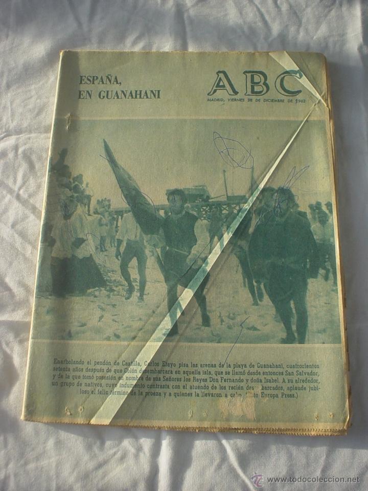PERIODICO ABC 28 DICIEMBRE 1962 (Coleccionismo - Revistas y Periódicos Modernos (a partir de 1.940) - Los Domingos de ABC)