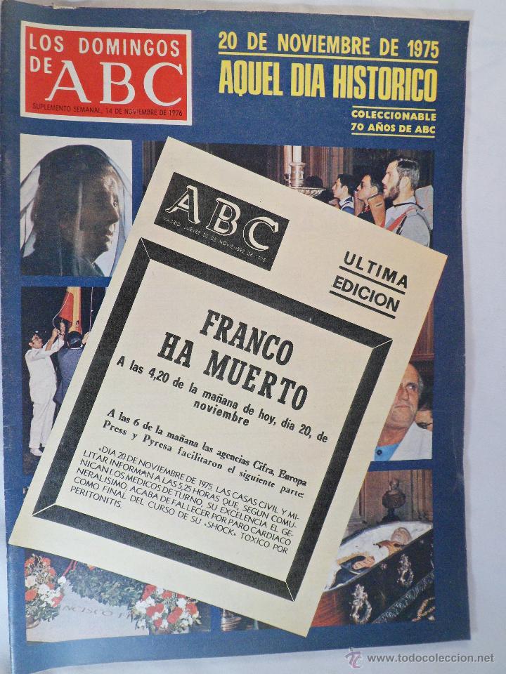 LOS DOMINGOS DE ABC. 14 NOVIEMBRE 1976 (Coleccionismo - Revistas y Periódicos Modernos (a partir de 1.940) - Los Domingos de ABC)