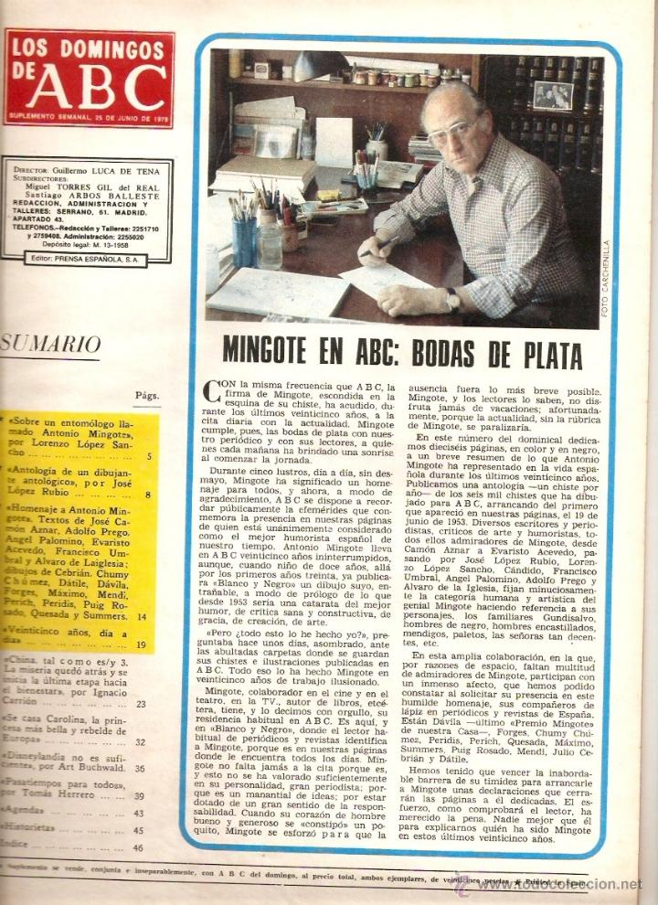 año 1978 antonio mingote 25 años en abc dibujo - Comprar Revista Los ...