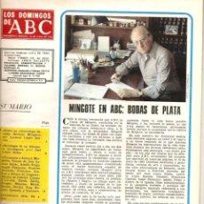 Coleccionismo de Los Domingos de ABC: AÑO 1978 ANTONIO MINGOTE 25 AÑOS EN ABC DIBUJO DIBUJANTE ANTOLOGIA COMIC ROLDAN EL TEMERARIO. Lote 54885586