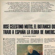 Colecionismo de Los Domingos de ABC: AÑO 1978 JOSE CELESTINO MUTIS BOTANICA VIENA MEDICINA LA RABIA FERNANDO NUÑO FOTOGRAFIA. Lote 54946146