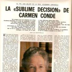 Coleccionismo de Los Domingos de ABC: AÑO 1978 CARMEN CONDE REAL ACADEMIA ARQUITECTURA RICARDO BOFILL LE TROU DES HALLES JACKIE BISSET. Lote 55030862