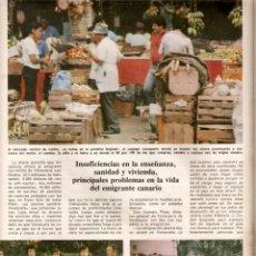 Coleccionismo de Los Domingos de ABC: AÑO1978 CANARIAS EMIGRACION A VENEZUELA HOGAR CANARIO CARACAS RAMON PEREZ DE AYALA CUBA NATI MISTRAL. Lote 55032920