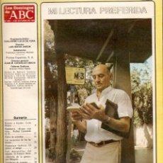 Coleccionismo de Los Domingos de ABC: AÑO 1983 JOSE HIERRO LOLA FLORES PINTURA FRANCISCO GALICIA CASA RICARDO GASTRONOMIA HUEVOS FRITOS . Lote 55054335