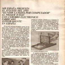 Coleccionismo de Los Domingos de ABC: 1982 TIERNO GALVAN JUAN DE VILLANUEVA ARQUITECTURA MB JUGUETE HUNDIR LA FLOTA COMIC EL REY DEL GOL. Lote 55308497