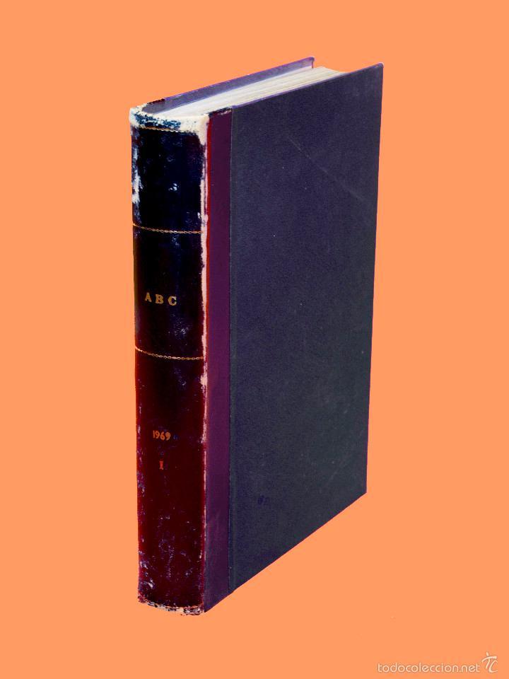 Coleccionismo de Los Domingos de ABC: SUPLEMENTOS LOS DOMINGOS DE ABC, AÑO 1969 COMPLETO Y ENCUADERNADO en tres TOMOS - Foto 2 - 55319251