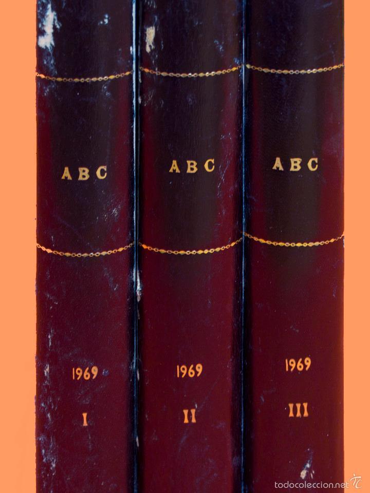 Coleccionismo de Los Domingos de ABC: SUPLEMENTOS LOS DOMINGOS DE ABC, AÑO 1969 COMPLETO Y ENCUADERNADO en tres TOMOS - Foto 4 - 55319251