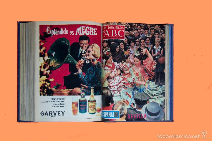 Coleccionismo de Los Domingos de ABC: SUPLEMENTOS LOS DOMINGOS DE ABC, AÑO 1969 COMPLETO Y ENCUADERNADO en tres TOMOS - Foto 11 - 55319251