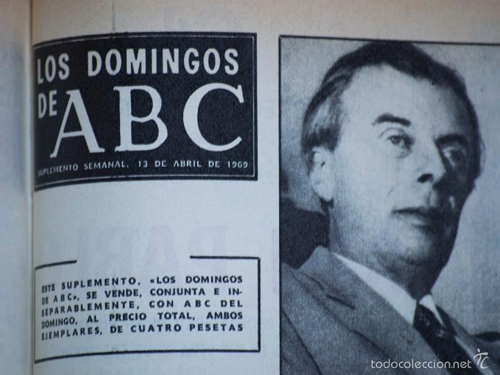 Coleccionismo de Los Domingos de ABC: SUPLEMENTOS LOS DOMINGOS DE ABC, AÑO 1969 COMPLETO Y ENCUADERNADO en tres TOMOS - Foto 12 - 55319251