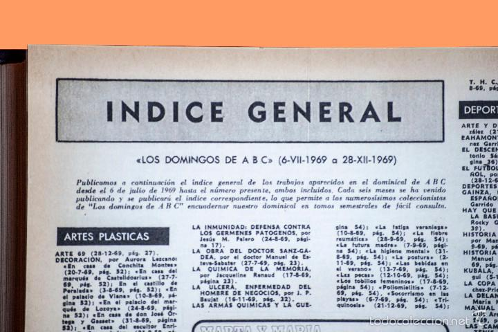 Coleccionismo de Los Domingos de ABC: SUPLEMENTOS LOS DOMINGOS DE ABC, AÑO 1969 COMPLETO Y ENCUADERNADO en tres TOMOS - Foto 13 - 55319251