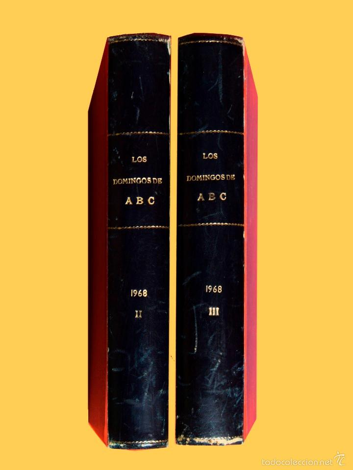 Coleccionismo de Los Domingos de ABC: SUPLEMENTOS LOS DOMINGOS DE ABC. AÑO 1968, SEGUNDO Y TERCER CUATRIMESTRE ENCUADERNADO EN DOS TOMOS - Foto 5 - 55366754
