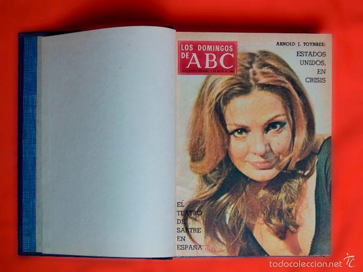 Coleccionismo de Los Domingos de ABC: SUPLEMENTOS LOS DOMINGOS DE ABC. AÑO 1968, SEGUNDO Y TERCER CUATRIMESTRE ENCUADERNADO EN DOS TOMOS - Foto 6 - 55366754
