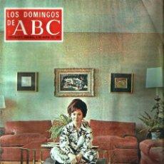 Coleccionismo de Los Domingos de ABC: LOS DOMINGOS DE ABC -8 DE MARZO DE 1970- *AURORA BAUTISTA, LA DÉCADA DE LOS 70...*. Lote 57356566