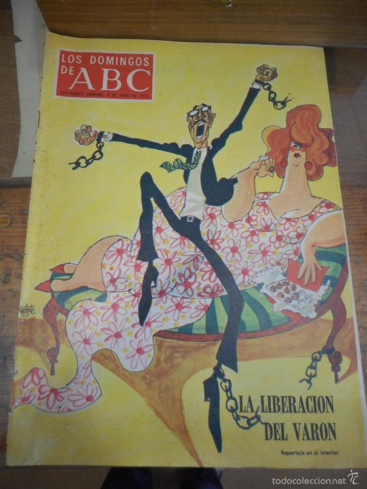 REVISTA LOS DOMINGOS DE ABC, 9 DE JUNIO 1974. (Coleccionismo - Revistas y Periódicos Modernos (a partir de 1.940) - Los Domingos de ABC)
