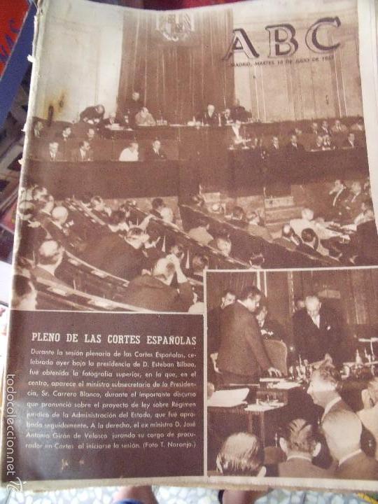 ABC 16B JULIO 1967 PLENO DE LAS CORTES (Coleccionismo - Revistas y Periódicos Modernos (a partir de 1.940) - Los Domingos de ABC)