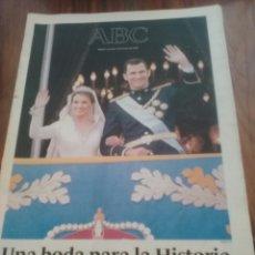 Coleccionismo de Los Domingos de ABC: ABC BODA DEL PRINCIPE FELIPE Y LETIZIA. Lote 58640882