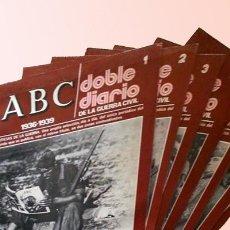 Coleccionismo de Los Domingos de ABC: ABC - DOBLE DIARIO DE LA GUERRA CIVIL 1936-1939 -- FASCÍCULOS DEL 1 AL 13. Lote 58710101