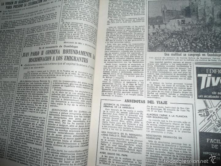 Coleccionismo de Los Domingos de ABC: LOTE PERIODICOS DIARIO ABC AÑO 1982 - JUAN PABLO II - Foto 2 - 58744540