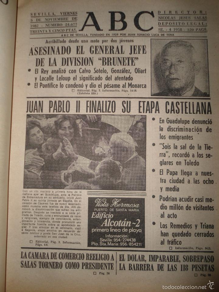 Coleccionismo de Los Domingos de ABC: LOTE PERIODICOS DIARIO ABC AÑO 1982 - JUAN PABLO II - Foto 3 - 58744540