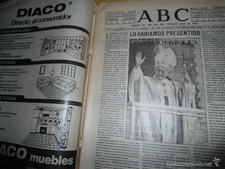Coleccionismo de Los Domingos de ABC: LOTE PERIODICOS DIARIO ABC AÑO 1982 - JUAN PABLO II - Foto 6 - 58744540