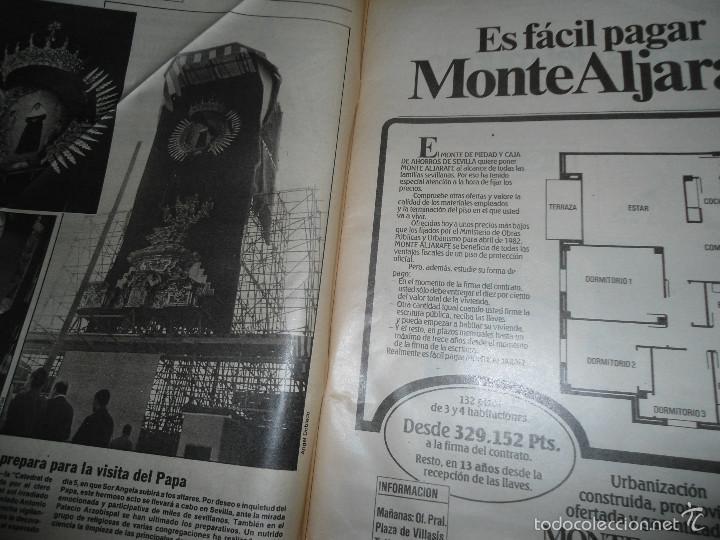 Coleccionismo de Los Domingos de ABC: LOTE PERIODICOS DIARIO ABC AÑO 1982 - JUAN PABLO II - Foto 8 - 58744540