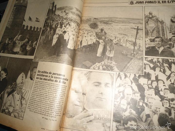 Coleccionismo de Los Domingos de ABC: LOTE PERIODICOS DIARIO ABC AÑO 1982 - JUAN PABLO II - Foto 9 - 58744540