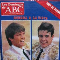 Coleccionismo de Los Domingos de ABC: LOS DOMINGOS DE ABC. 28 SEPT 1986. GUERRA A LA VISTA ESPARTACO VS JOSELITO.. Lote 58890621