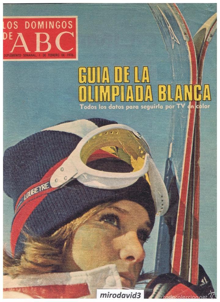 GUIA DE LA OLIMPIADA BLANCA TODOS LOS DATOS PARA SEGUILA POR TV EN COLOR 1 DE FEB 1976 54 PAG - 24 (Coleccionismo - Revistas y Periódicos Modernos (a partir de 1.940) - Los Domingos de ABC)