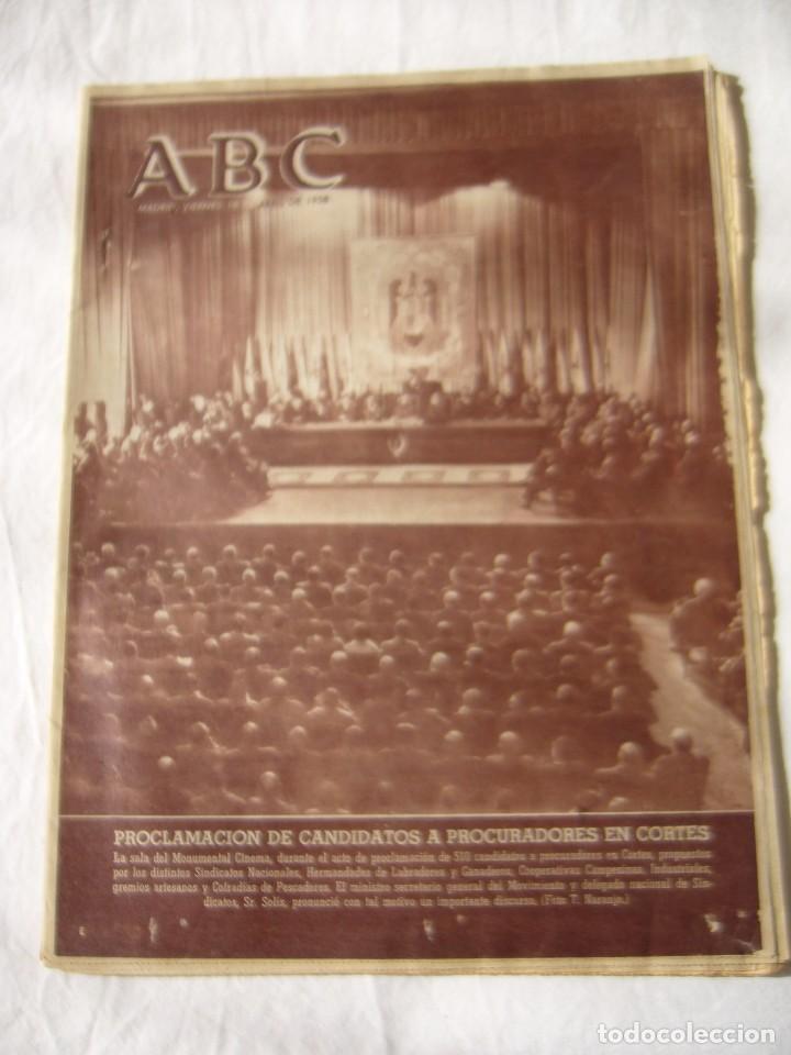 PERIODICO ABC 18 ABRIL 1958 (Coleccionismo - Revistas y Periódicos Modernos (a partir de 1.940) - Los Domingos de ABC)