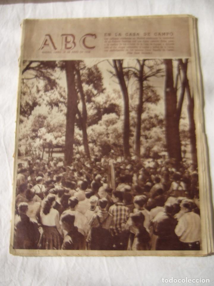 PERIODICO ABC 28 JULIO 1958 (Coleccionismo - Revistas y Periódicos Modernos (a partir de 1.940) - Los Domingos de ABC)