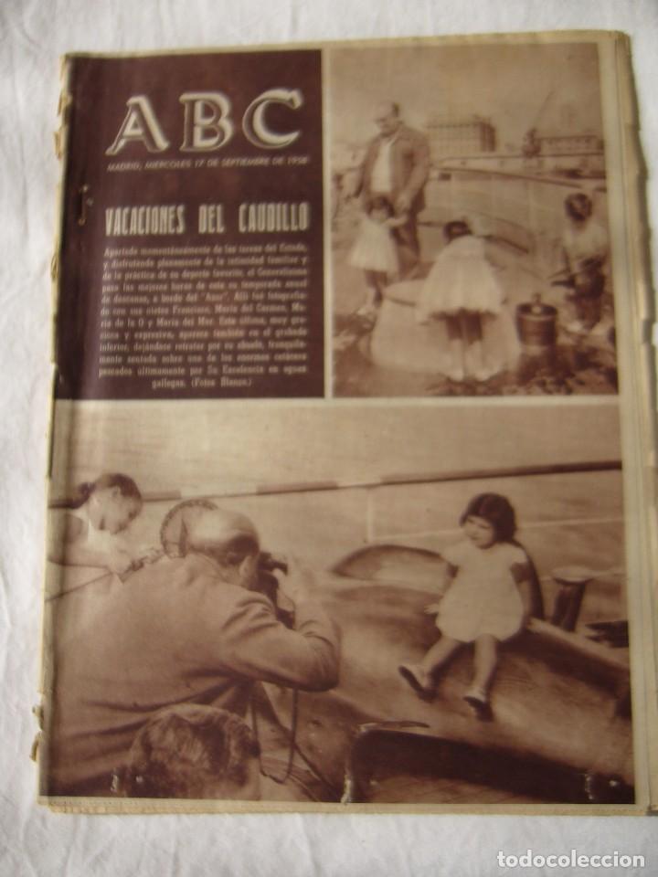 PERIODICO ABC 17 SEPTIEMBRE 1958 (Coleccionismo - Revistas y Periódicos Modernos (a partir de 1.940) - Los Domingos de ABC)
