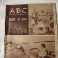 Coleccionismo de Los Domingos de ABC: PERIODICO ABC 17 SEPTIEMBRE 1958 . Lote 62633020