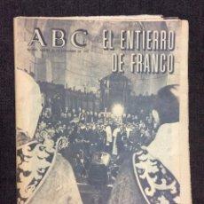 Coleccionismo de Los Domingos de ABC: ABC. NÚMERO ESPECIAL SOBRE EL ENTIERRO DEL CAUDILLO D. FRANCISCO FRANCO. Lote 67352449