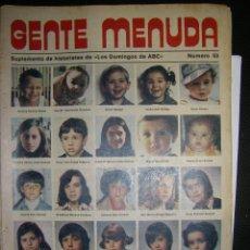 Coleccionismo de Los Domingos de ABC: GENTE MENUDA N 53. LOS DOMINGOS DE ABC. Lote 72271447