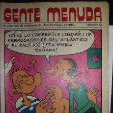 Colecionismo de Los Domingos de ABC: GENTE MENUDA N 56. LOS DOMINGOS DE ABC. Lote 72271467