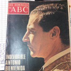 Coleccionismo de Los Domingos de ABC: ABC AÑO 1975, PORTADA ANTONIO BIENVENIDA. Lote 74306339