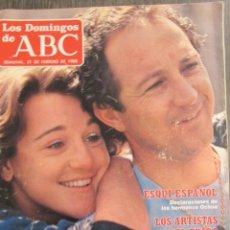 Collectionnisme de Los Domingos de ABC: LOS DOMINGOS DE ABC 21 DE ENERO 1988. ARTURO FERNÁNDEZ, PACO NOGUERA, C.C CATCH, HERMANOS OCHOA. Lote 75182759
