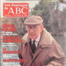 Coleccionismo de Los Domingos de ABC: LOS DOMINGOS DE ABC 17 ENERO DE 1988. MIGUEL DELIBES, GUNILLA VON BISMARCK, LOBOS NEGROS.. Lote 75184219