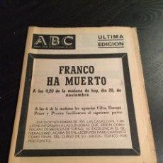 Coleccionismo de Los Domingos de ABC: ABC ÚLTIMA EDICIÓN FRANCO HA MUERTO. Lote 75821745