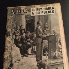 Coleccionismo de Los Domingos de ABC: ABC EL REY HABLA A SU PUEBLO. Lote 75822638
