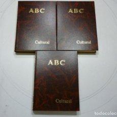 Coleccionismo de Los Domingos de ABC: ABC CULTURAL AÑO 1993 3 TOMOS ENCUADERNADOS AÑO COMPLETO DESDE EL NUMERO 62 AL NUMERO 113 INCLUIDOS. Lote 78452625