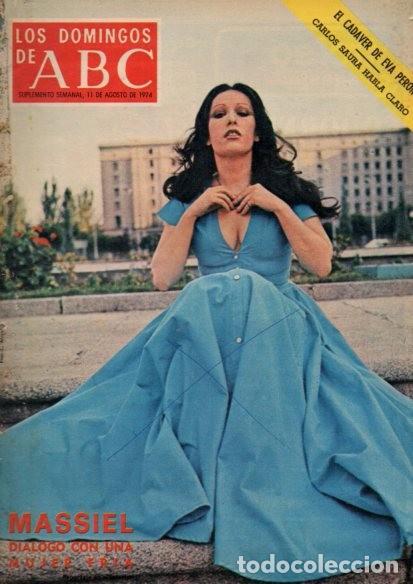 LOS DOMINGOS DE ABC - 11 AGOSTO 1974 - MASSIEL (Coleccionismo - Revistas y Periódicos Modernos (a partir de 1.940) - Los Domingos de ABC)