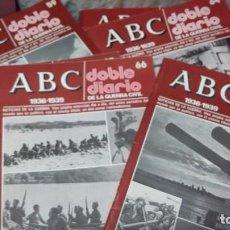 Coleccionismo de Los Domingos de ABC: LOTE 9 NUMEROS DE ABC DEL DIARIO DOBLE DE LA GUERRA CIVIL.... Lote 81110120