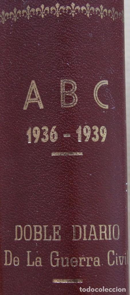 Coleccionismo de Los Domingos de ABC: REVISTA GRAFICA: ABC 1936-1939 DOBLE DIARIO GUERRA CIVIL COMPLETA 80 ENTREGAS ENCUADERNADAS 8 TOMOS - Foto 2 - 82786252