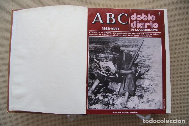 Coleccionismo de Los Domingos de ABC: REVISTA GRAFICA: ABC 1936-1939 DOBLE DIARIO GUERRA CIVIL COMPLETA 80 ENTREGAS ENCUADERNADAS 8 TOMOS - Foto 3 - 82786252