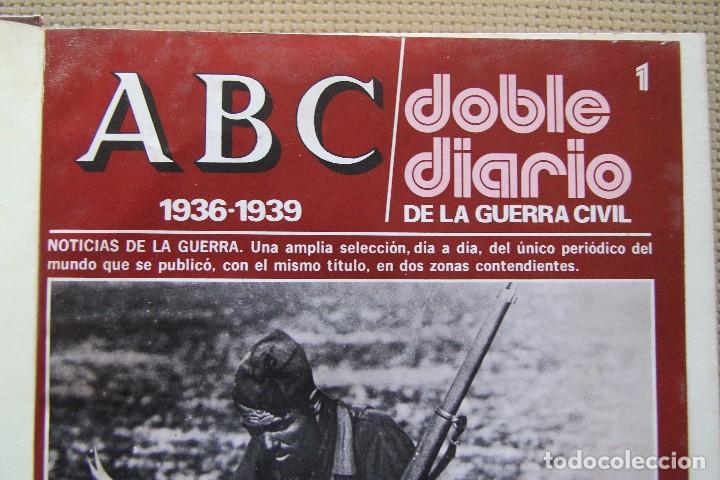 Coleccionismo de Los Domingos de ABC: REVISTA GRAFICA: ABC 1936-1939 DOBLE DIARIO GUERRA CIVIL COMPLETA 80 ENTREGAS ENCUADERNADAS 8 TOMOS - Foto 4 - 82786252