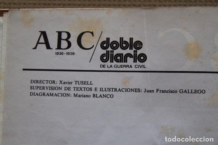Coleccionismo de Los Domingos de ABC: REVISTA GRAFICA: ABC 1936-1939 DOBLE DIARIO GUERRA CIVIL COMPLETA 80 ENTREGAS ENCUADERNADAS 8 TOMOS - Foto 5 - 82786252